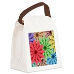 Colorful Flowers Canvas Lunch Bag