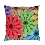 Colorful Flowers Everyday Pillow