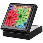 Colorful Flowers Keepsake Box