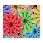 Colorful Flowers King Duvet