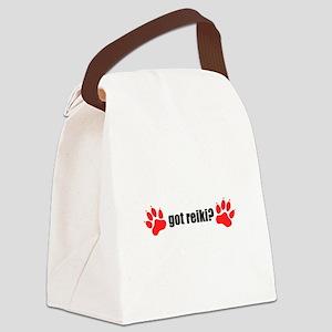 Got Reiki? Dog Paws Canvas Lunch Bag
