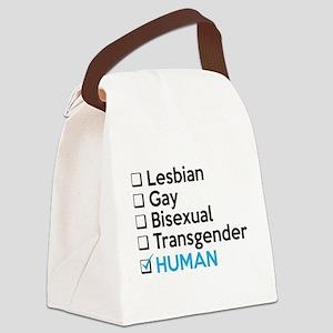 I'm Human - Gay Pride Canvas Lunch Bag