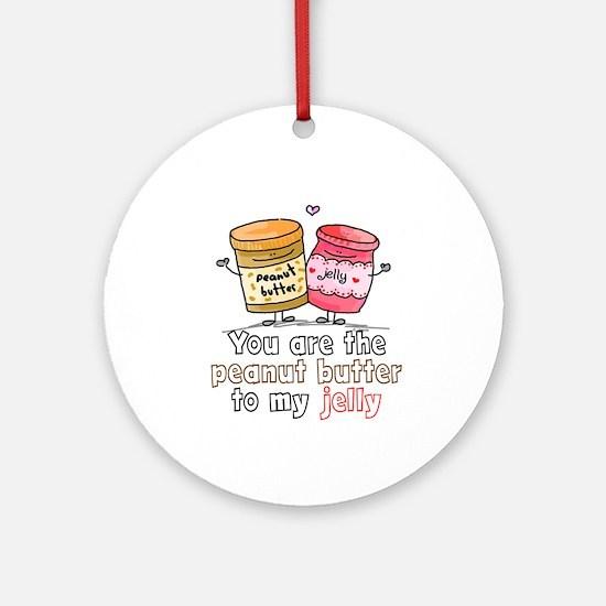 Unique Peanut butter Round Ornament