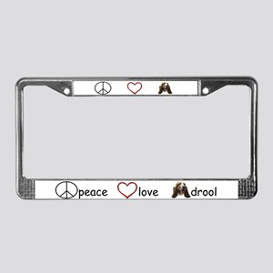 Peace Love Drool - Color License Plate Frame