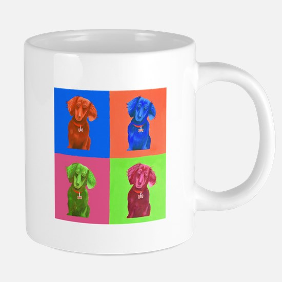 Pop Art Dachshund Mugs