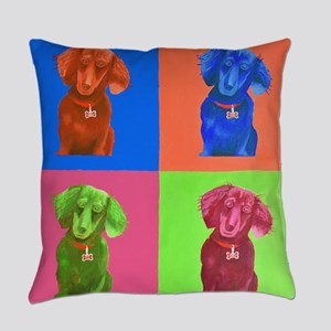 Pop Art Dachshund Everyday Pillow