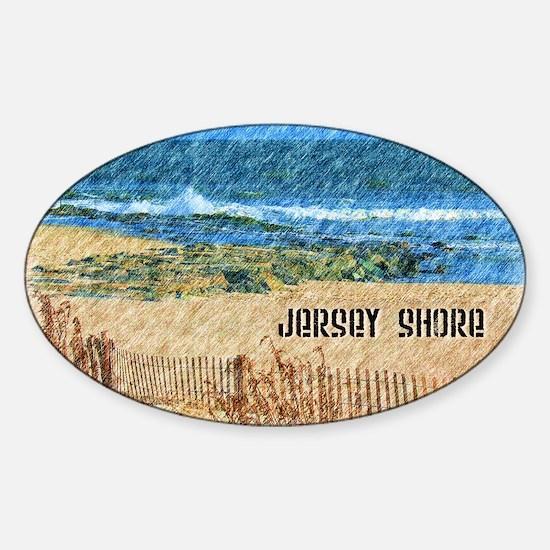 Cute Jersey shore Sticker (Oval)