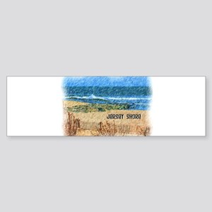 Jersey Shore NJ Beach Bumper Sticker
