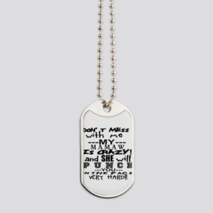 Dont mess with me my is crazy, personalize Dog Tag
