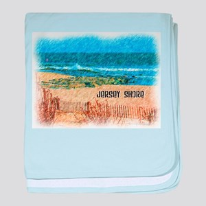 Jersey Shore NJ Beach baby blanket