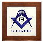 Masonic Scorpio Framed Tile