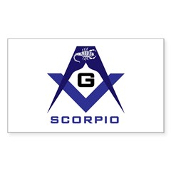 Masonic Scorpio Rectangle Decal