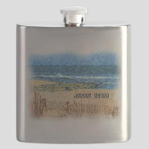 Jersey Shore NJ Beach Flask