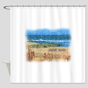 Jersey Shore NJ Beach Shower Curtain