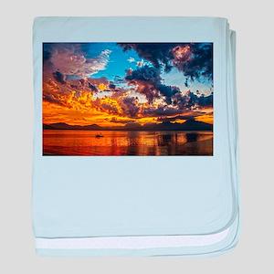 Beautiful Sunset Landscape baby blanket
