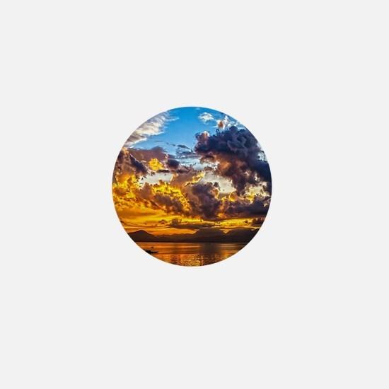 Beautiful Sunset Landscape Mini Button