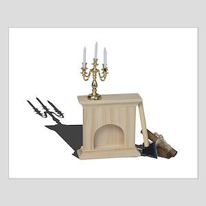 chandelier fireplace logs hatchet Posters