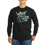 Wear Your Vote Dark Long Sleeve Dark T-Shirt