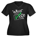 Wear Your Vote Dark Women's Plus Size V-Neck Dark