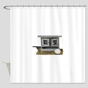chicken coop egg Shower Curtain
