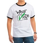 Wear Your Vote Light Ringer T