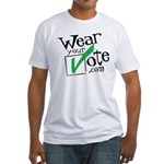 Wear Your Vote Light Fitted T-Shirt