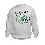Wear Your Vote Light Kids Sweatshirt