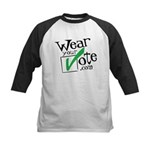 Wear Your Vote Light Kids Baseball Jersey