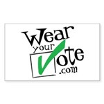 Wear Your Vote Light Rectangle Sticker