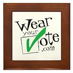 Wear Your Vote Light Framed Tile