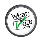 Wear Your Vote Light Wall Clock