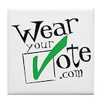 Wear Your Vote Light Tile Coaster