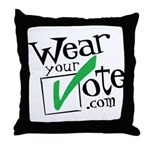 Wear Your Vote Light Throw Pillow