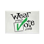 Wear Your Vote Light Rectangle Magnet (100 pack)