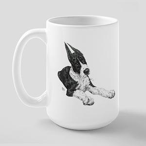 CLay Mantle dotpup Great Dane Large Mug