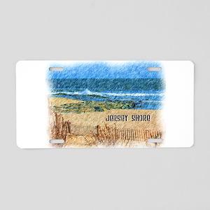 Jersey Shore NJ Beach Aluminum License Plate