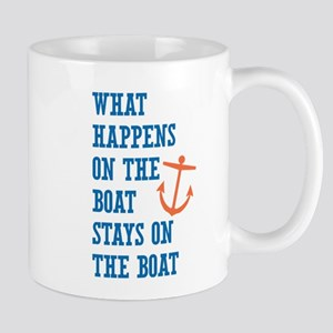 What Happens On The Boat Mugs