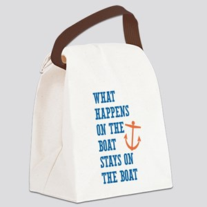 What Happens On The Boat Canvas Lunch Bag