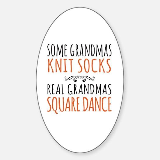Cute Square dancing Sticker (Oval)