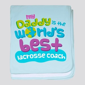 Lacrosse Coach Gifts for Kids baby blanket