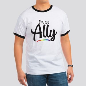 I'm An Ally - Gay Pride Ringer T