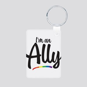 I'm An Ally - Gay Pride Aluminum Photo Keychain