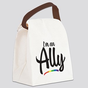I'm An Ally - Gay Pride Canvas Lunch Bag