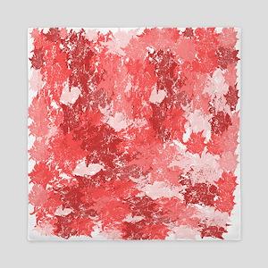 Pink Camouflage Splatter Design- Queen Duvet Cover