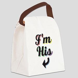 I'm His - Gay Pride Canvas Lunch Bag
