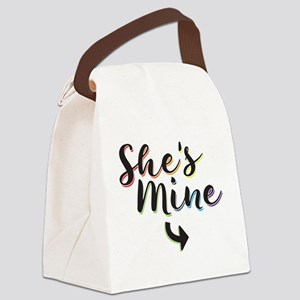 She's Mine - Gay Pride Canvas Lunch Bag
