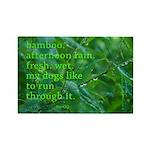 Bamboo Picto-Haiku Art Magnet By Benqq Magnets