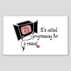 Evil TV! Rectangle Sticker