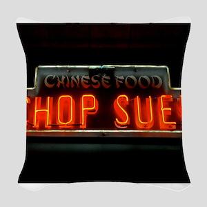Chop Suey!! Woven Throw Pillow