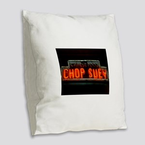 Chop Suey!! Burlap Throw Pillow